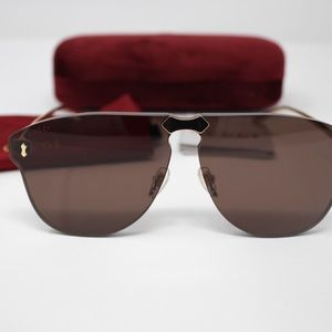 Gucci GG0354S 002 Gold/Brown Lens Sunglasses